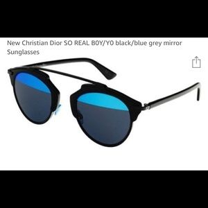 Never worn  So Real Dior sunglasses. Black/blue